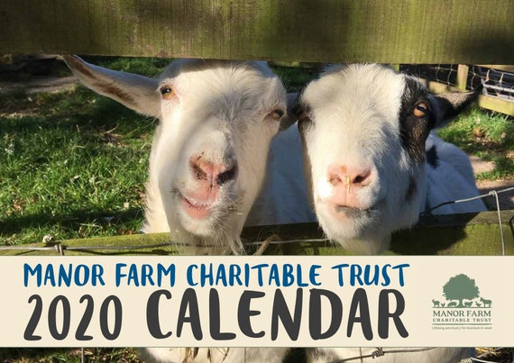 2020 CALENDAR for Manor Farm Charitable Trust