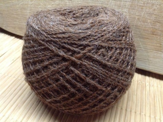 DOTTIE Jacob/DorsetX alpaca blend yarn 100g balls 4 ply BROWN S18