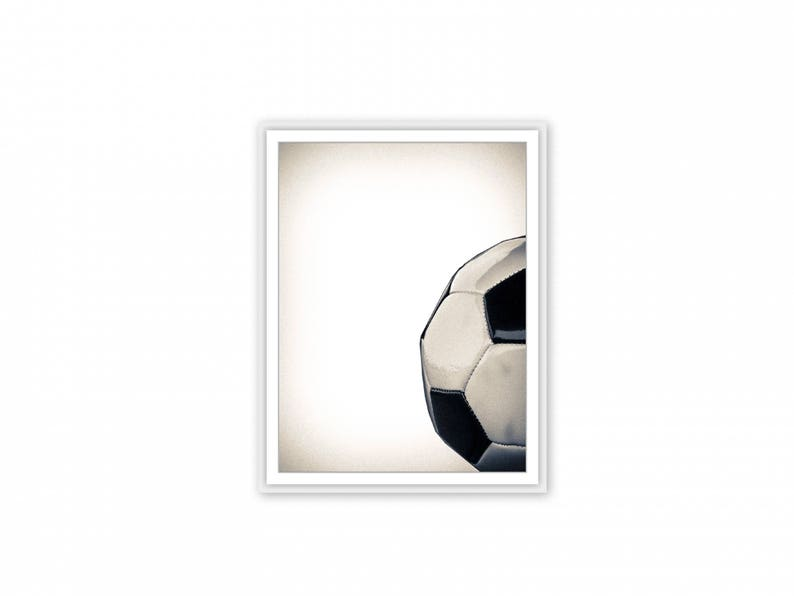Sports photography, Vintage Soccer ball, Soccer ball print, Football,  Modern art, Minimalist, Downloadable, Home and Office decor, Gifts