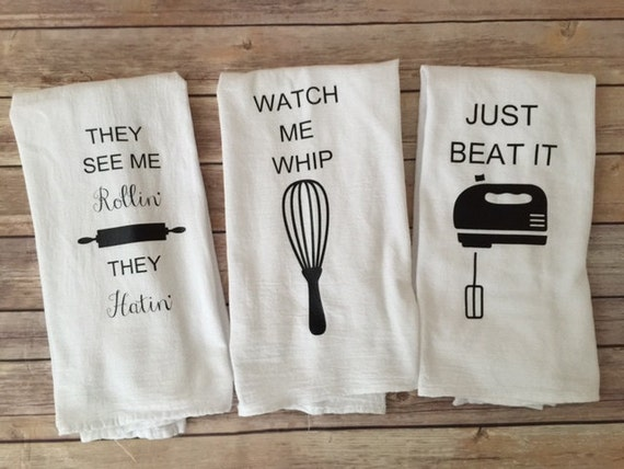 custom song lyric tea towels watch me whip funny tea towel etsy