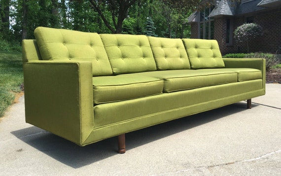 Vintage Mid Century Modern Couch Inside Image Mid Century Modern Sofa Vintage Retro Etsy