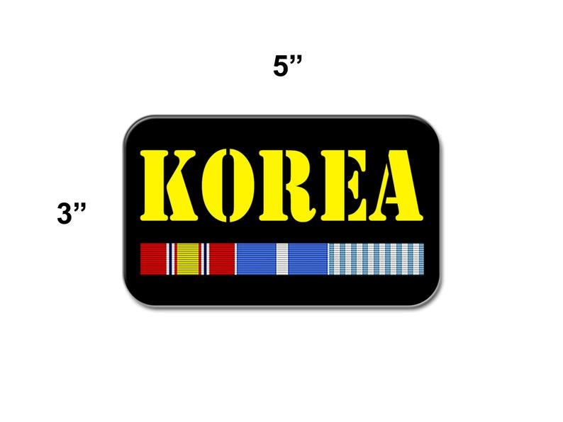 3x5in, Korean War Veteran Curb-N-Sign\u00ae 2 Reflective Vinyl Decals