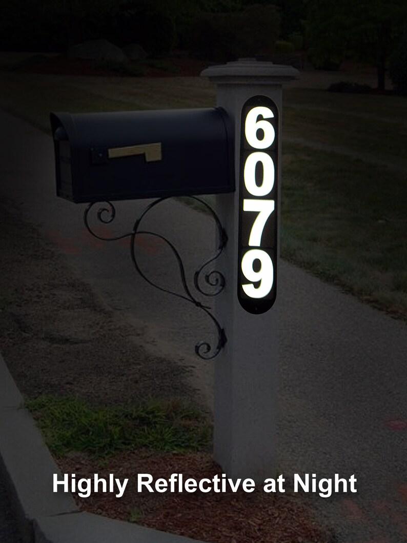 reflective Desert Storm Veteran Mailbox Address signs 2 included