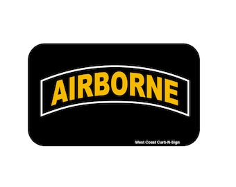3x5 Magnet, Army Airborne