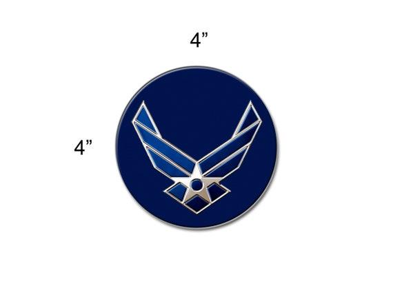 Curb-N-Sign\u00ae 2 Reflective Vinyl Decals 3x5in, Air Force Logo