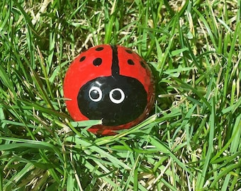 Ladybug Golfball, Handpainted Golfball,Ladybug Garden,Ladybugs,Yard Art,Garden  Decor,Ladybug Art,Ladybug Decor,Lovebug,Yard Decor