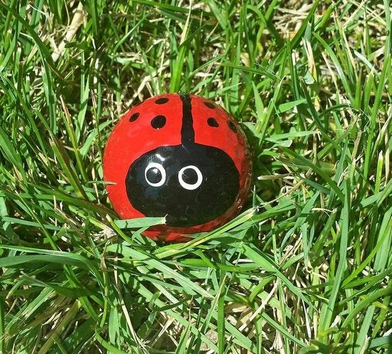 Ladybug Golfball Handpainted GolfballLadybug | Etsy