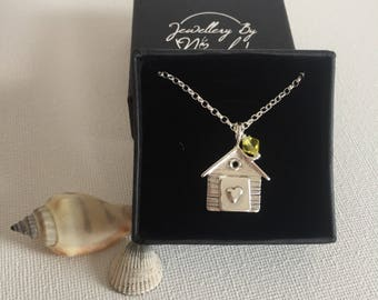 925 Sterling Silver Nautical Charm Pendant 3-D Island Hut Bungalow