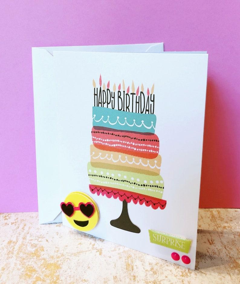 Emoji Birthday Card Heart Happy