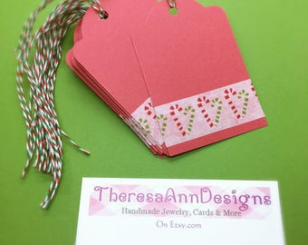 Candy Cane Tags, Christmas Tags, Package Lables, Holiday Gift Tags, Candy Cane Gift Tags, Christmas Gift Tags