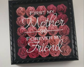Mothers Shadow Box Mother Birthday Gift For Mom Christmas Present