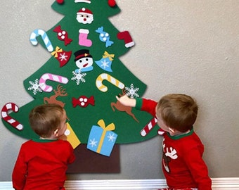 felt christmas tree velcro christmas tree kids cristmas tree play christmas tree velcro ornaments