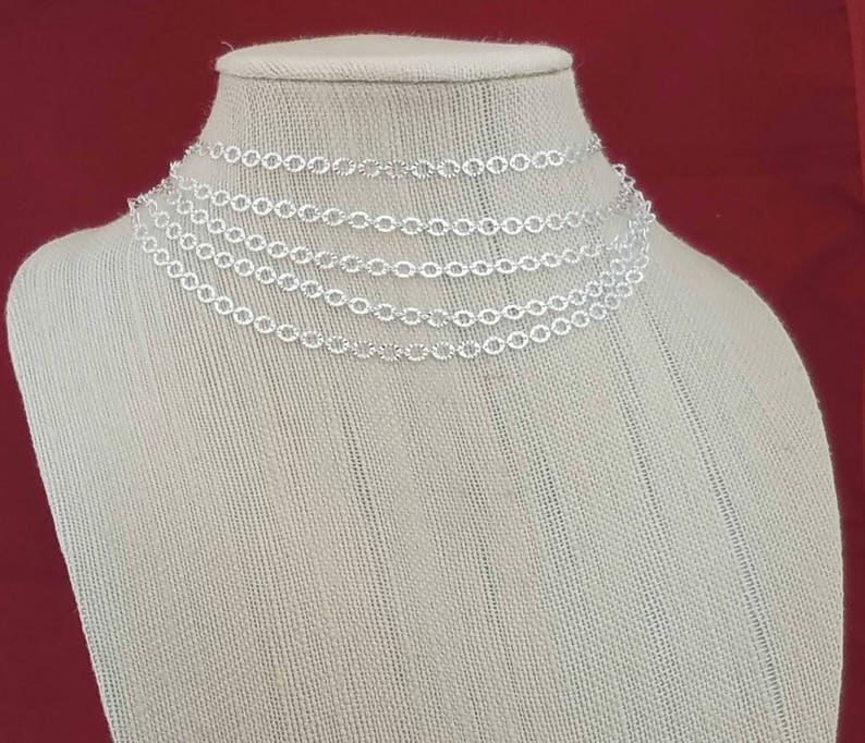 Multi Chain Necklace Trendy Choker Necklace Multi Chain Choker Necklace Elegant Multi Line Choker Chain Sterling Silver Choker Necklace