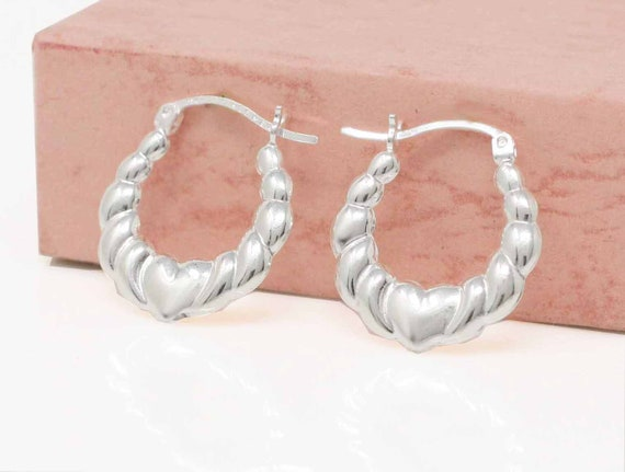 36 Girls Hanging Dolphin Hoops 925 Sterling Silver Nb Of Crystal Stones