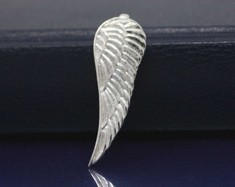 Angel Wing Necklace, Sterling Silver Large Wing Necklace, Silver Angel Wings, Sterling Silver Angel Wing pendant, Silver Wing Necklace
