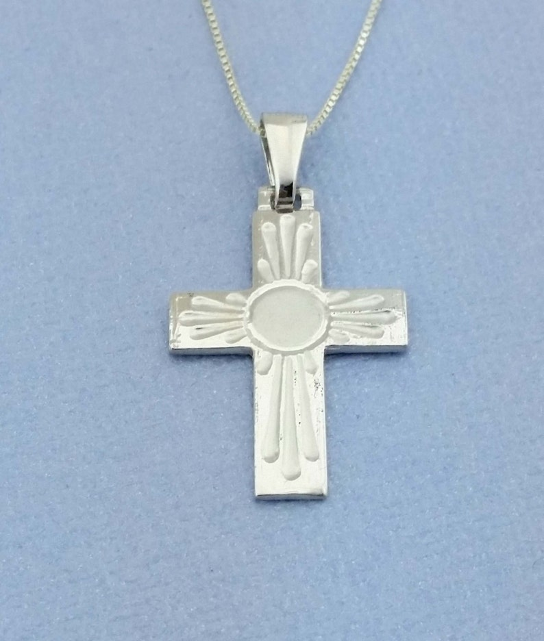 Sterling Silver Cross Necklace, Religious Charm, Protection Charm, Sterling  Silver Pendant, Religious Jewelry, Silver Crucifix