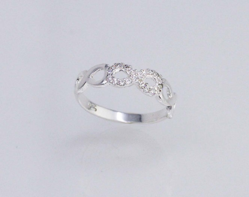Sterling Silver Triple Infinity Ring Promise Ring Sterling Silver Infinity Ring Infinity Ring in Silver Adjustable Ring Forever Ring