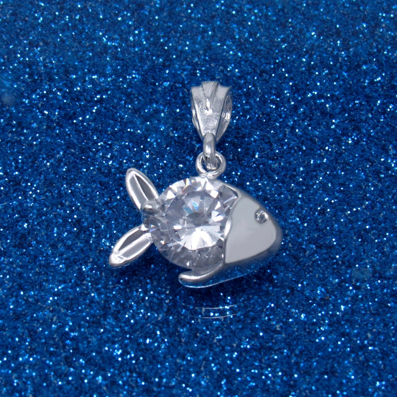 Children/'s Jewelry Birthday Gift Kids Jewelry Beach Jewelry Silver Fish Pendant Bridesmaid Gift Sterling Silver Fish Necklace