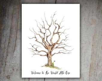Fingerprint Family Tree Printable Instant Digital Download | Etsy