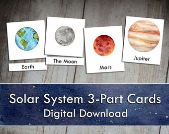 Solar System 3-Part Cards