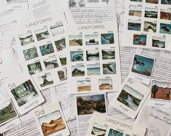 Landforms and Bodies of Water Unit Study