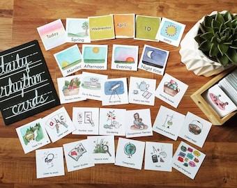 Editable Daily Rhythm Cards 250+