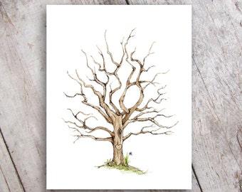 Fingerprint Family Tree, Printable Instant Digital Download, Guestbook, Baby Shower, Wedding, Anniversary Gift, Teacher Appreciation
