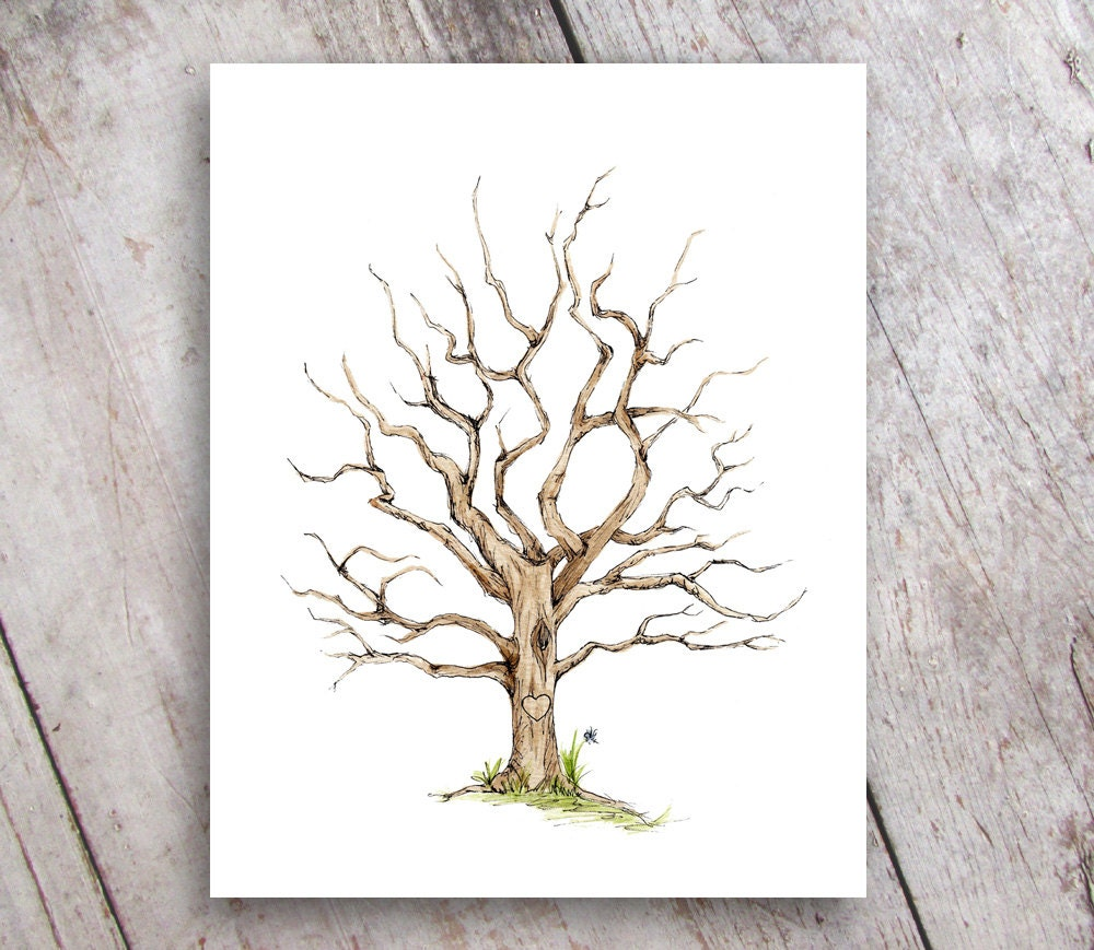 Fingerprint Family Tree Printable Instant Digital Download Etsy