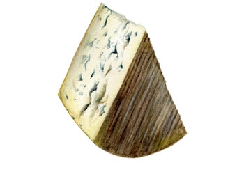 Blue Cheese Illustration Art Print