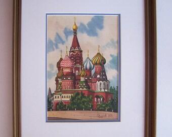 Vintage Watercolor Paintings Etsy