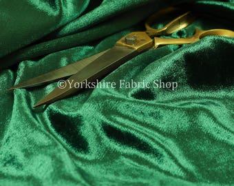 Luxury Shine Quality Plain Velvet Upholstery Curtain Fabric Emerald Green Colour