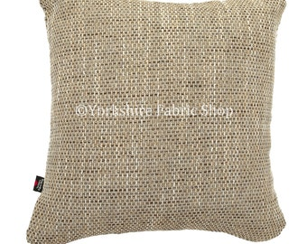 Textured Hard Wearing Quality Woven Upholstery Material Fabric In Caramel Beige Brown Colour Perfect For Sofas Chairs Flame Treated Fabrics