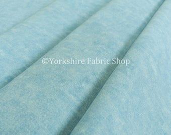 Qualité Pastel effet Coton Chenille Uni Rideau bleu sellerie tissu d ...