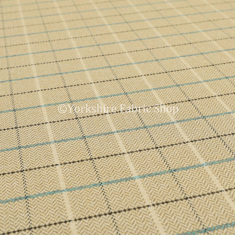 Nouvelle qualité tissé Tartan rayé rayé rayé motif à carreaux Beige bleu sellerie tissu - vendu par le tissu de longueur de 10 mètres b06c56