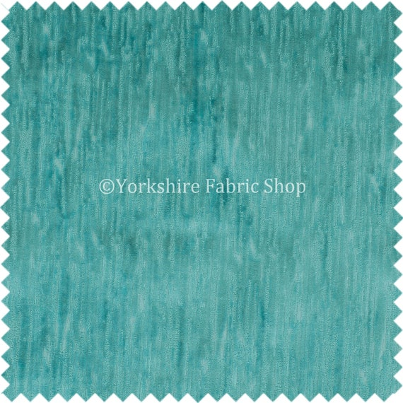 Quality Soft Textured Teal Velvet Velour Upholstery Curtains Furnishing Fabric