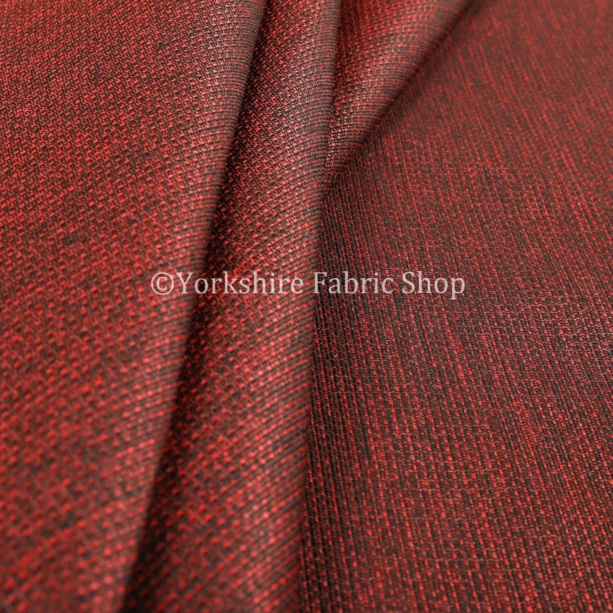 Chenille Chenille Chenille moderne plaine lisse texturé ameublement rouge Rideau tissu - vendu par 10 mètres longueur tissu d'ameublement 885755