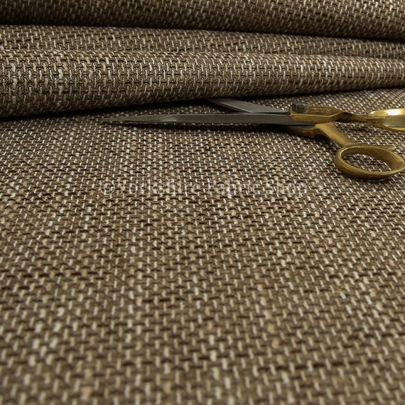 Textured Hopsack Thick Chenille Upholstery Curtain Material Fabric New Silver