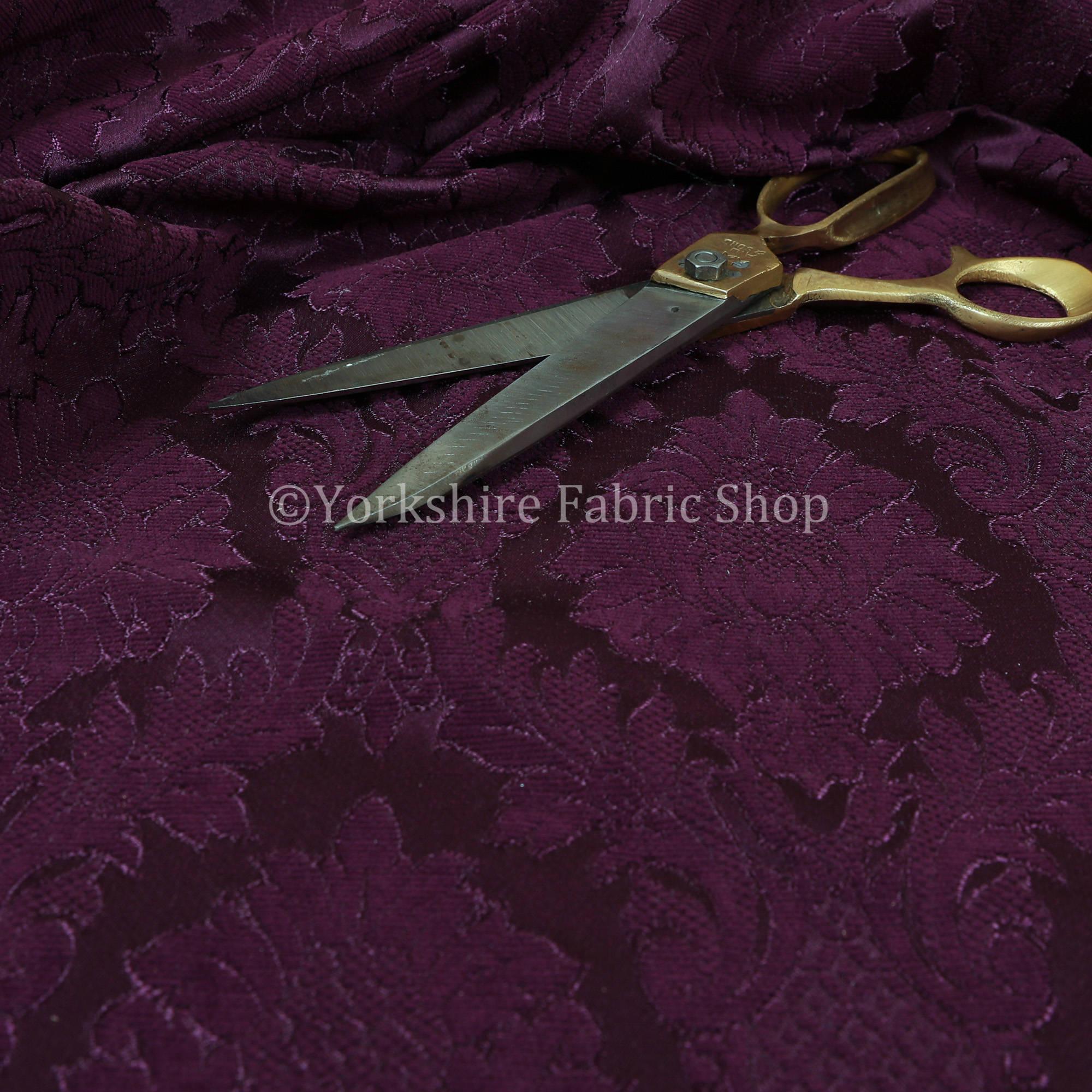 Couleur Couleur Couleur violet Floral damassé Chenille d'ameublement Rideau tissus - vendus par 10 mètres longueur tissu d'ameublement en relief 505bf1
