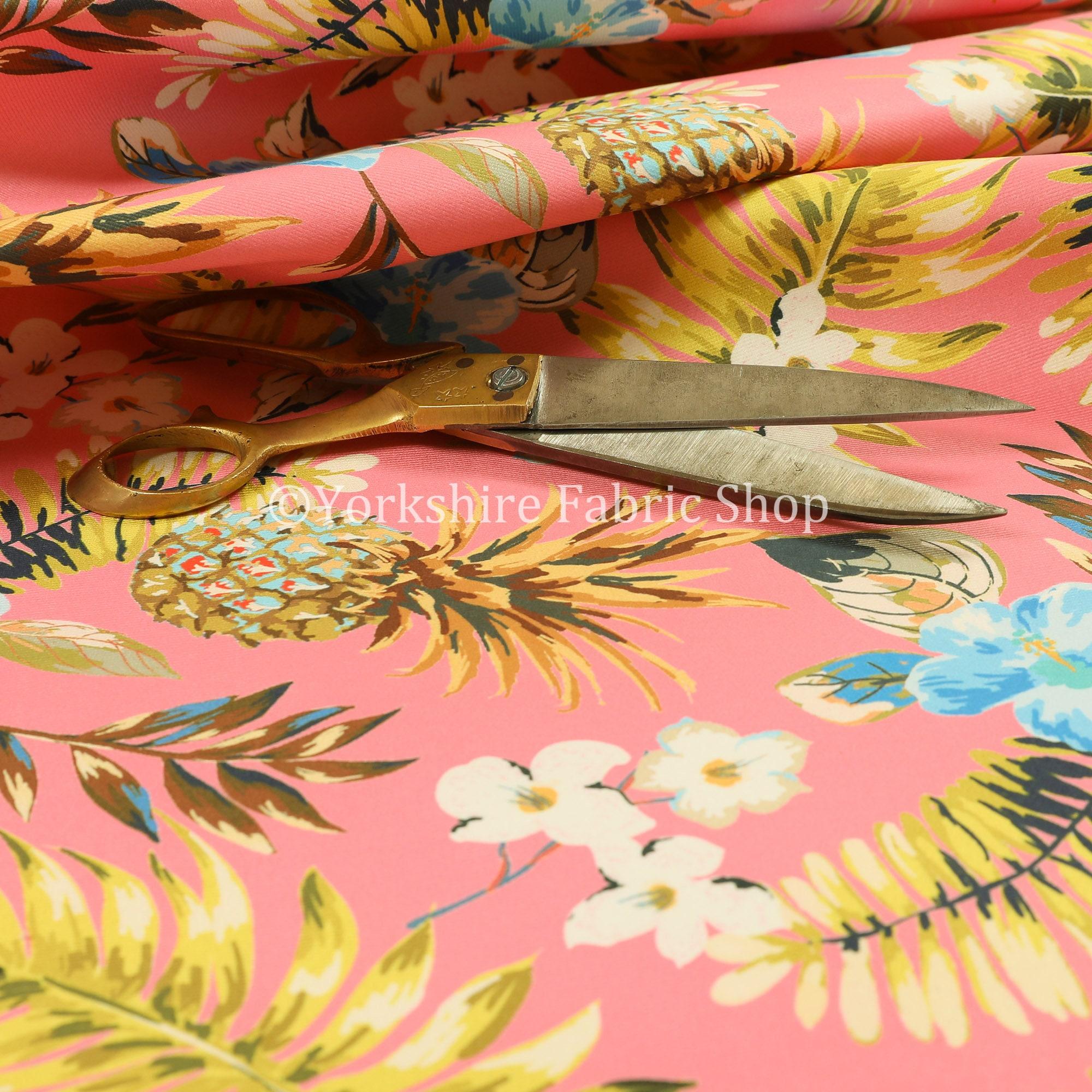 Ananas coloré rose velours imprimé Floral velours velours velours tissu d'ameublement rideaux - vendu par le tissu de longueur de 10 mètres e26014