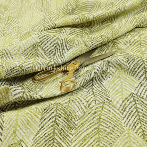 New Chenille Quality Woven Modern Leaf Floral Pattern Pink Upholstery Fabric