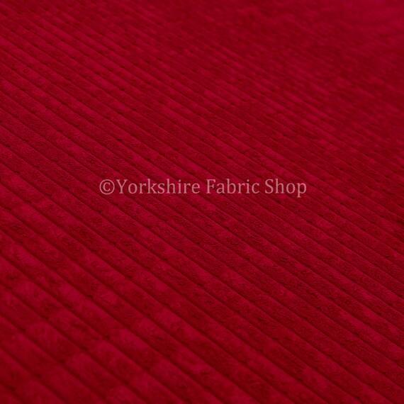 High Quality Brick Effect Jumbo Cord Fabric 11 Colours Upholstery Cushion Craft