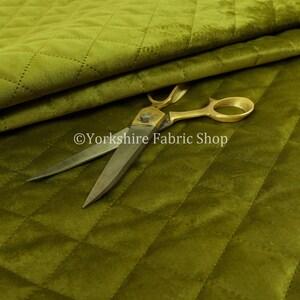 New Quality Modern Quilted Velvet Plain Upholstery Furnishing Fabric Soft Blue