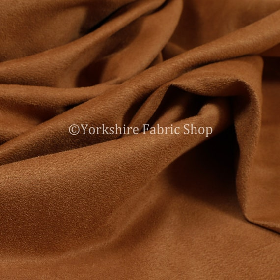 Durable Lightweight Soft Orange Faux Suede Fabrics Interior Upholstery Fabric
