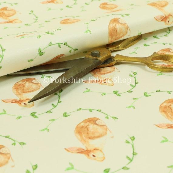 New Rabbit Animal Theme Pattern Velour Velvet Printed Upholstery Curtain Fabrics