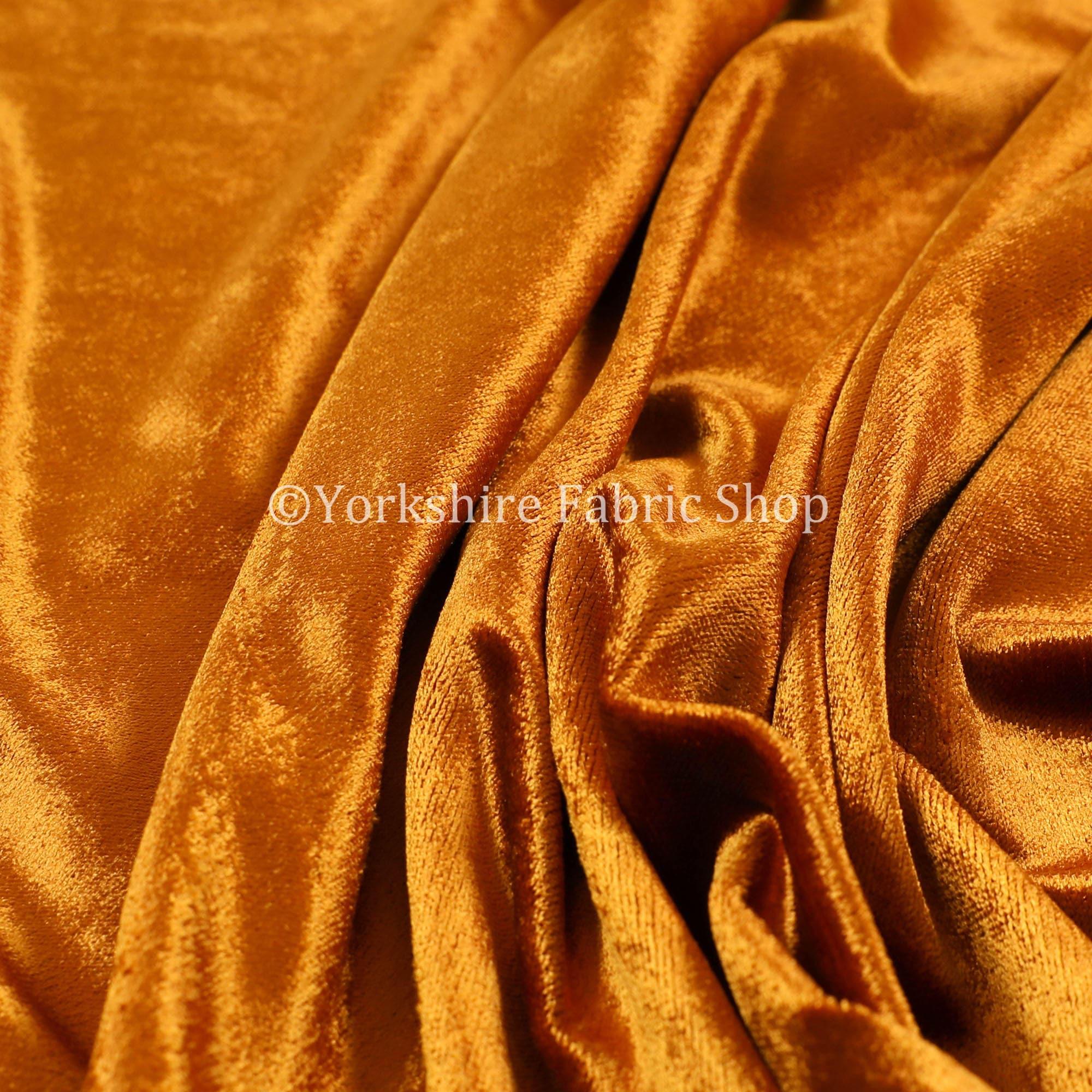 Tissus pour rideaux d'ameublement velours luxe brillance qualité Uni Uni Uni rouillent couleur Orange - vendu par le tissu de longueur de 10 mètres 984bba