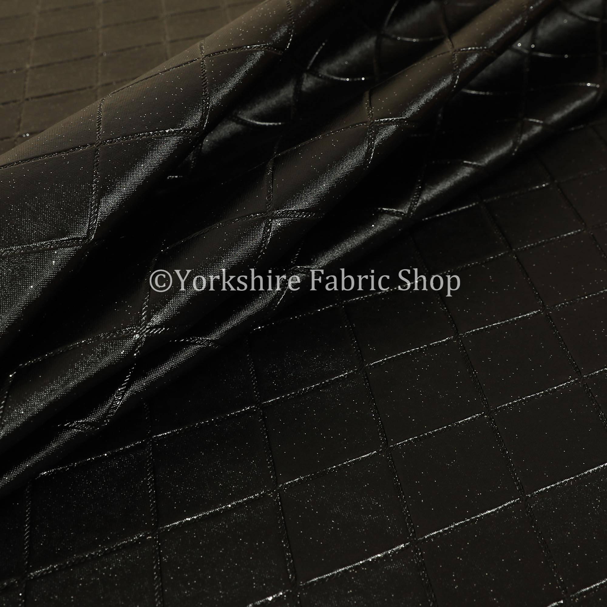 Designer Diamond forme forme forme paillettes vinyle simili cuir tissu d'ameublement noir couleur - vendu au mètre 10 f4a046