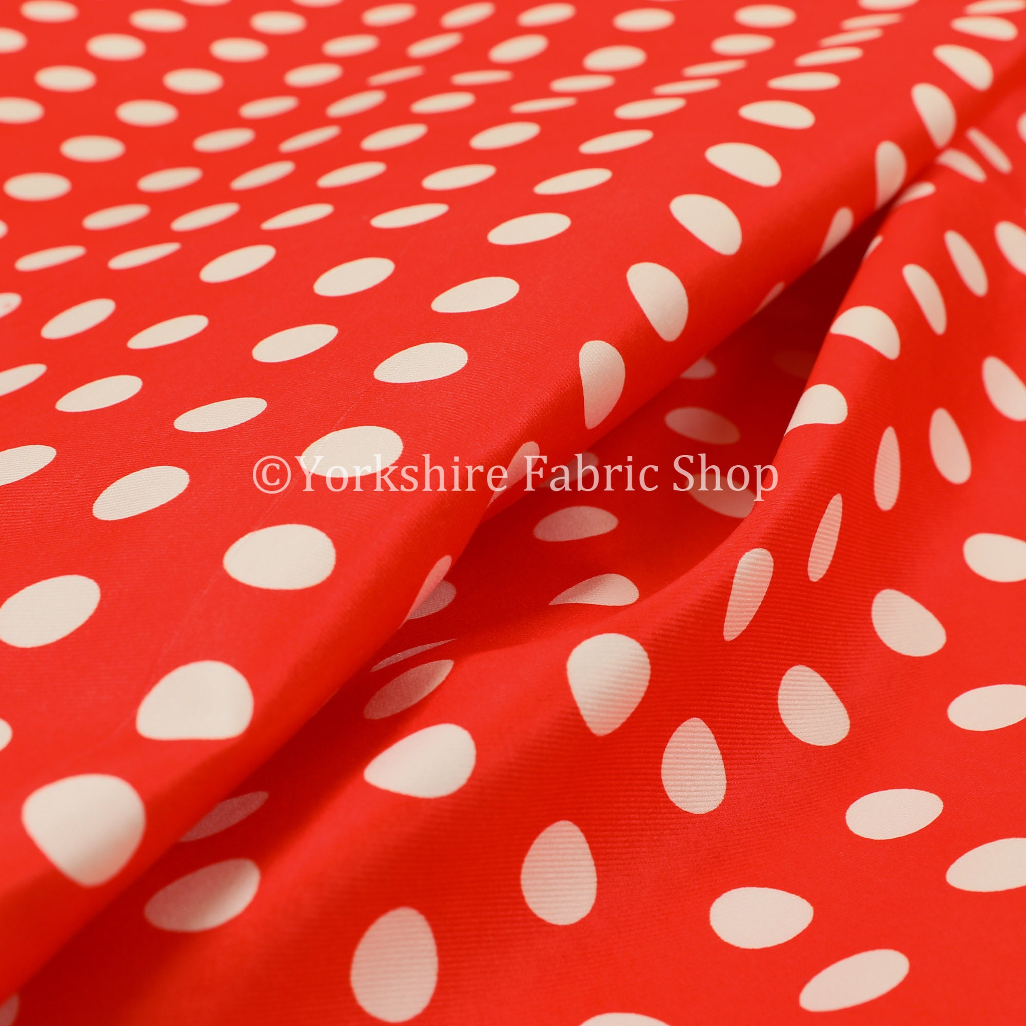 Nouveau motif tacheté tacheté tacheté blanc rouge imprimé velours velours Rideau tissus d'ameublement - vendus par le tissu de longueur de 10 mètres 149c3b