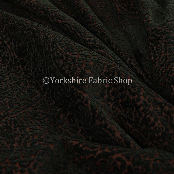 All Over Detailed Damask Heavyweight Soft Chenille In Beige Upholstery Fabric