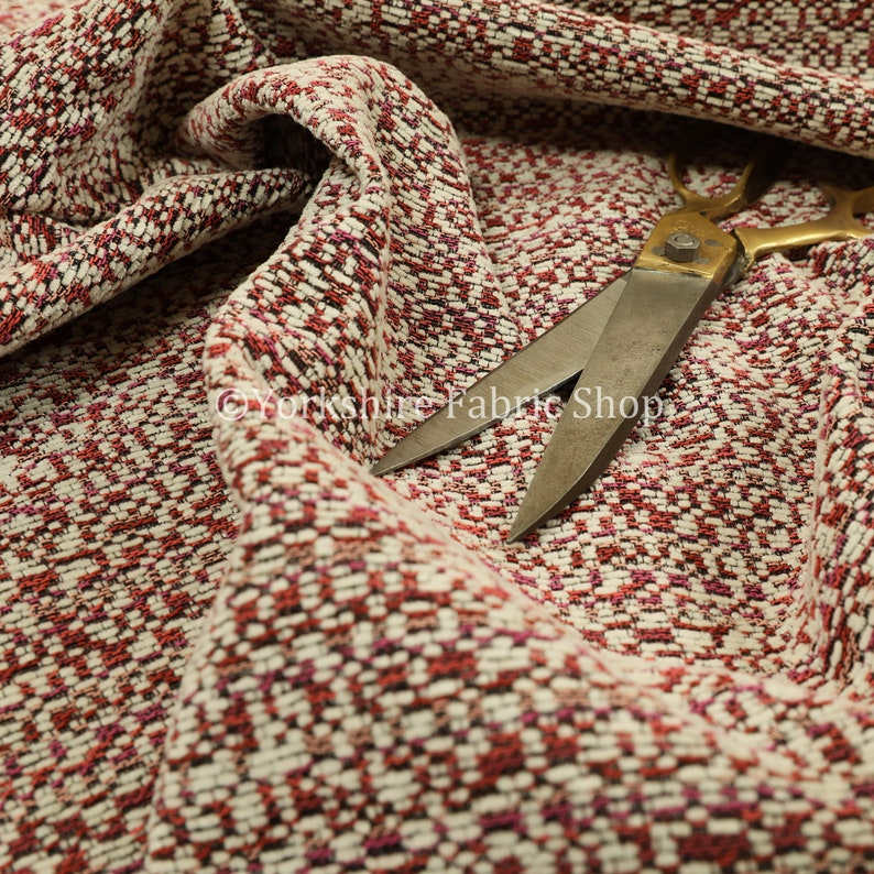 Chenille Textured Buzz Fuzz Semi Plain Pattern Upholstery Fabrics In Pink Colour