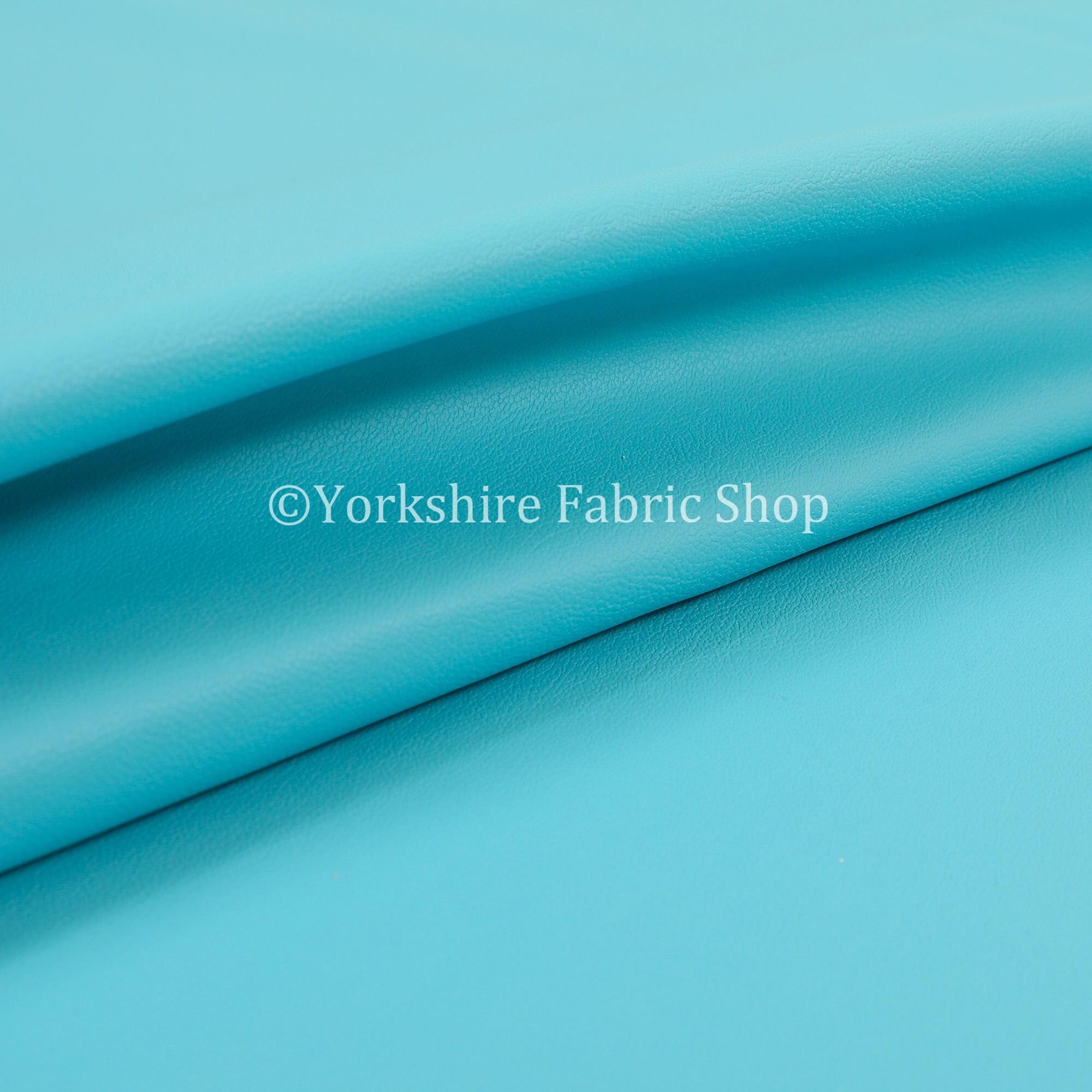 Poids léger vinyle vinyle vinyle Durable Teal bleu simili cuir tissu d'ameublement ameublement - vendu au mètre 10 6f0419